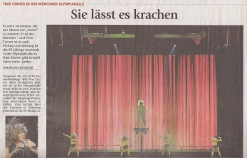 Tina Turner Concert review - Munich - Germany - Feb. 15, 2009