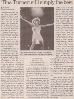 Tina Turner - Concert Review - The Boston Globe - USA - 1997 - 02