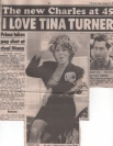 Prince Charles is in Love with Tina Turner! The Sun Uk (Oct 22, 1993)