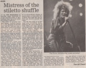 Tina Turner -Uk Newspaper - 1990