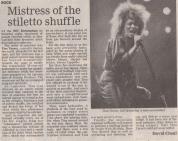 Tina Turner -Uk Newspaper - 1990