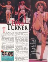 Tina Turner 1996 US magazine article.