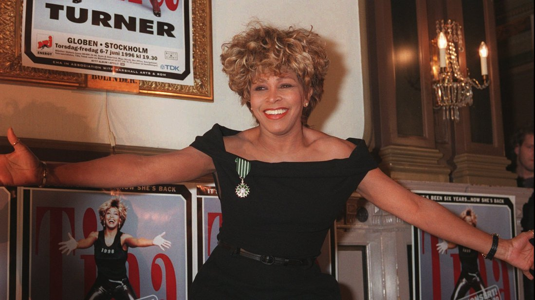 Tina Turner poses for the press in Stockholm, Sweden, February 16th 1996, (AP Photo/Eric Roxfelt)