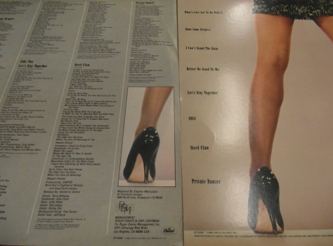 Tina Turner - Song Selection on Private Dancer