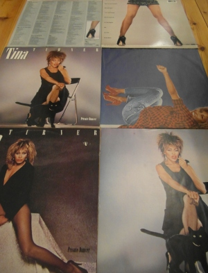 Tina Turner - US an European LP Covers of Private Dancer