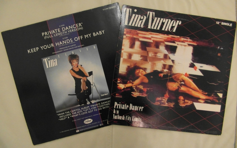 Tina Turner - Private Dancer 12 Inch - Back Cover