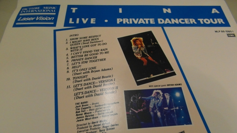 Tina Turner - Tina Live 1985 - Back Cover Photo