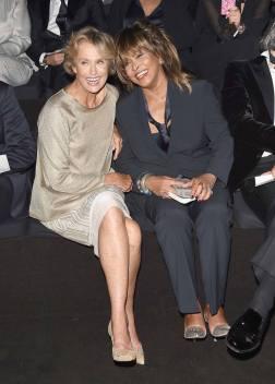 Tina Turner Lauren Hutton - Armani 2015