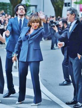 Tina Turner wearing Armani - 2015