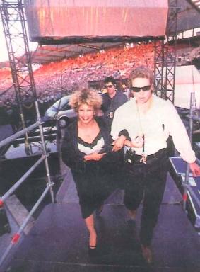 Tina Turner backstage - Wildest Dreams Tour 1996