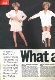 Tina Turner - Wildest Dreams Tour Report - Boulevard Magazine 1996 - 1