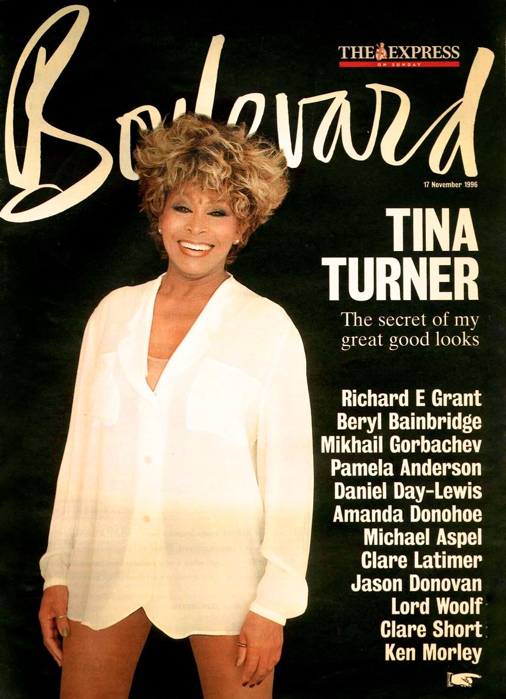 Tina Turner - Wildest Dreams Tour Report - Boulevard Magazine 1996 - Cover