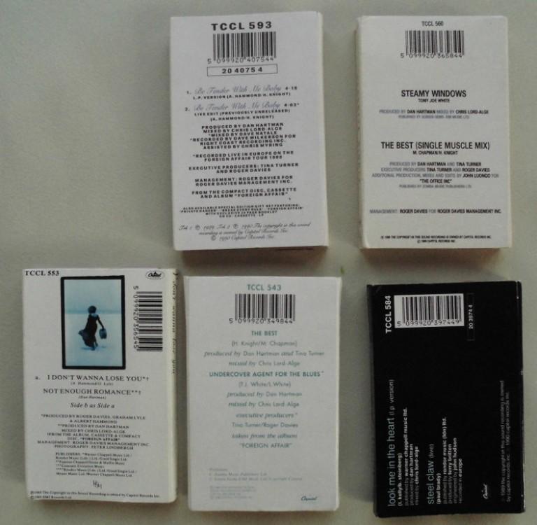 Tina Turner - Cassette Singles - 1989