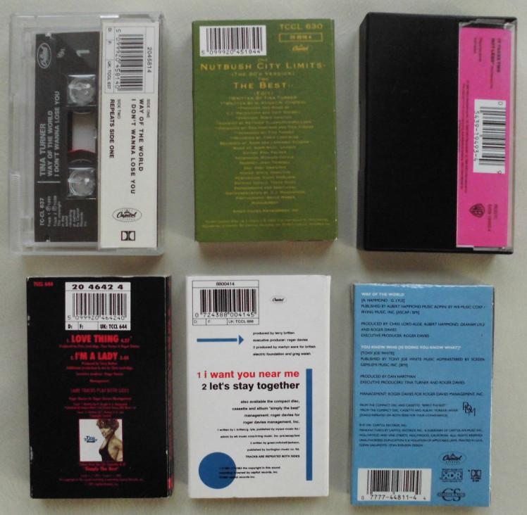 Tina Turner - Cassette Singles - 1991