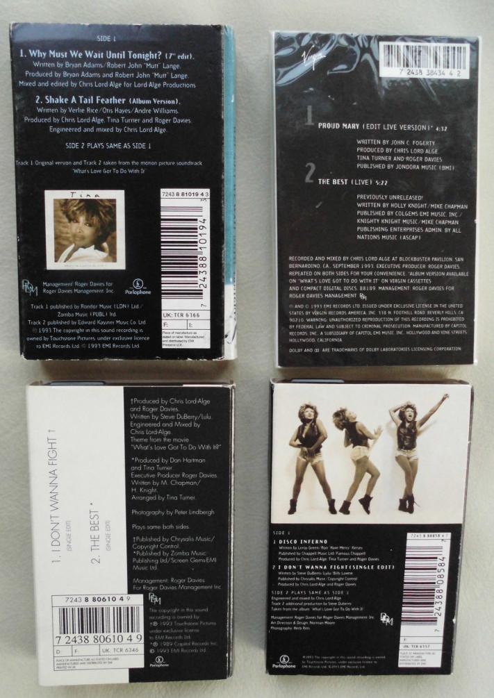 Tina Turner - Cassette Singles - 1993