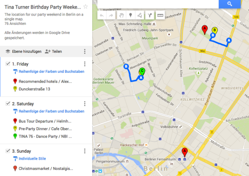 Tina Turner Party 2015 - Google Maps