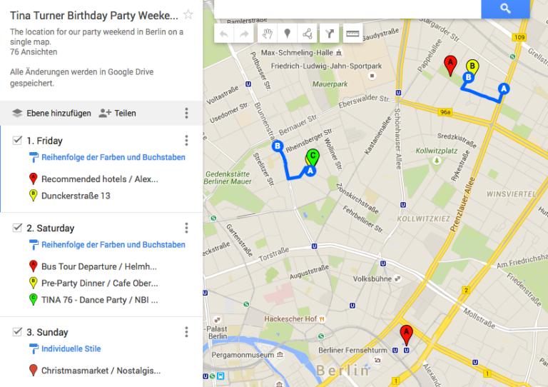 Tina Turner Party 2015 - Google Maps