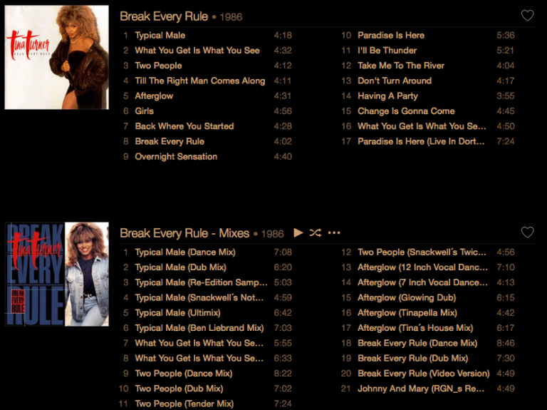 Tina Turner - Break Every Rule - iTunes
