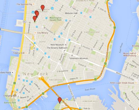 Tina Turner - Video Locations New York - Map