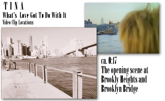 Tina Turner - Video Clip Locations: Brooklyn Heights at Brooklyn Bridge