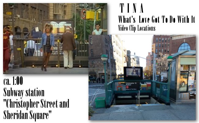 Tina Turner - Video Clip Locations: Christopher Street and Sheridan Square