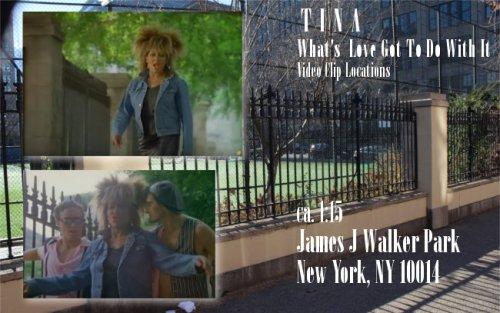 Tina Turner - Video Clip Locations: James J Walker Park
