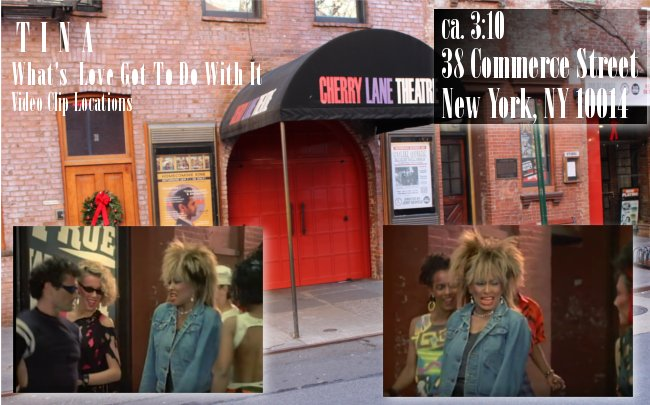 Tina Turner - Video Clip Locations: Cherry Lane Theater