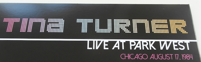 Tina Turner - Live at Park West - Title