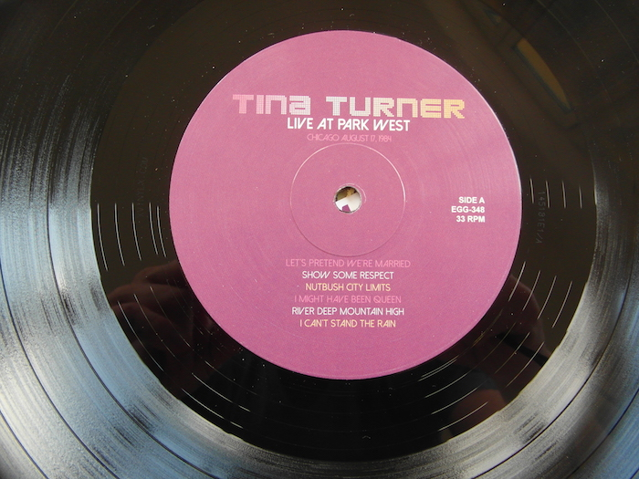 Tina Turner - Live at Park West - Label