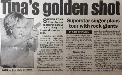 Tina Turner - Newspaper Clippings - 4