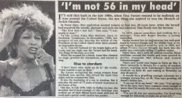 Tina Turner - Newspaper Clippings - 5