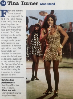 Tina Turner - Newspaper Clippings - 6