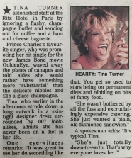 Tina Turner - Newspaper Clippings - 9