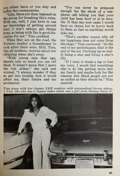 Tina Tuner - Jet Magazine - April 1976 - 4