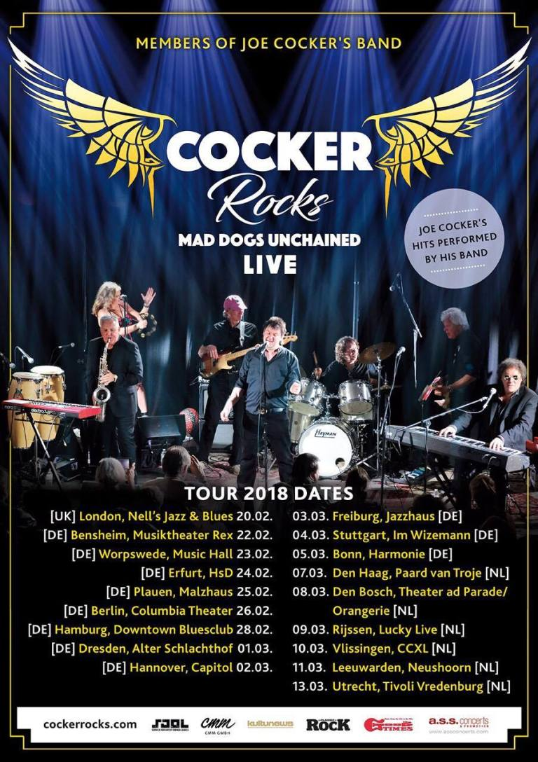 Cocker Band - Mad Dogs Unchained - Tour 2017 - 2018