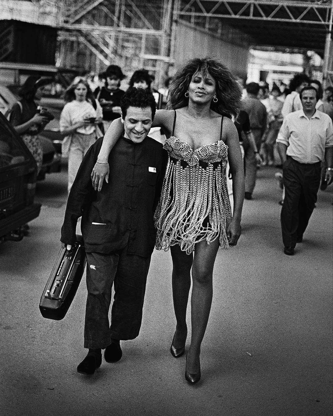 Tina Turner & Azzedine Alaia by Peter Lindbergh