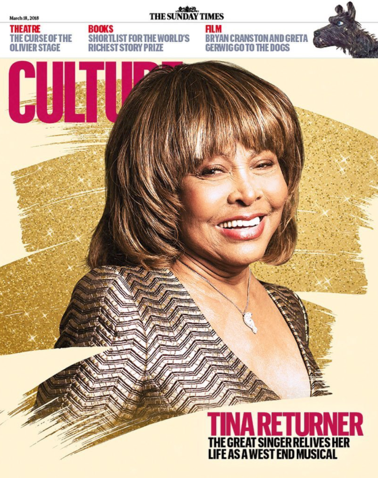 Tina Turner - Sunday Times Cover - 2018